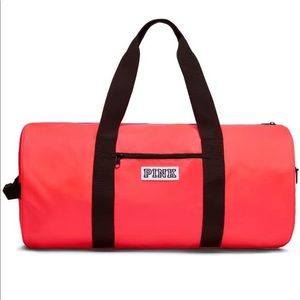 Victoria's Secret Pink Weekender Duffle Neon Red